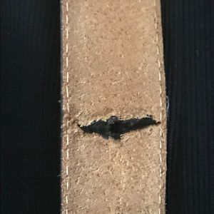 """Made in Haiti Accessories - Vintage Men's Leather Belt 42 3/4"""" 1960's"""